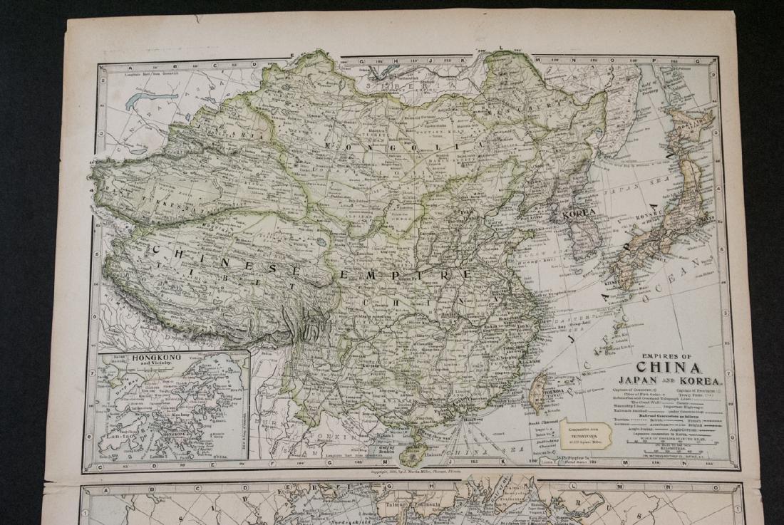 Antique 19th C Victorian China Japan Korea Map - 5