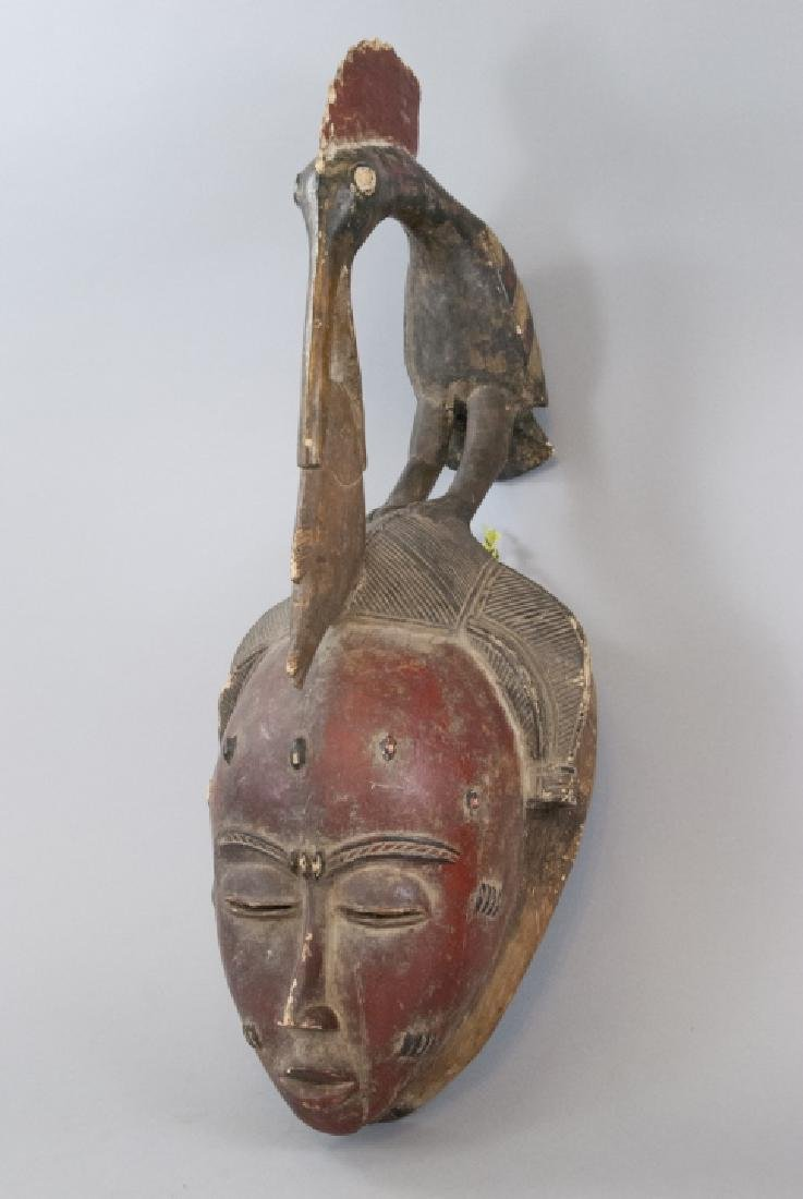 African Hand Carved Hand Painted Tribal Mask - 3