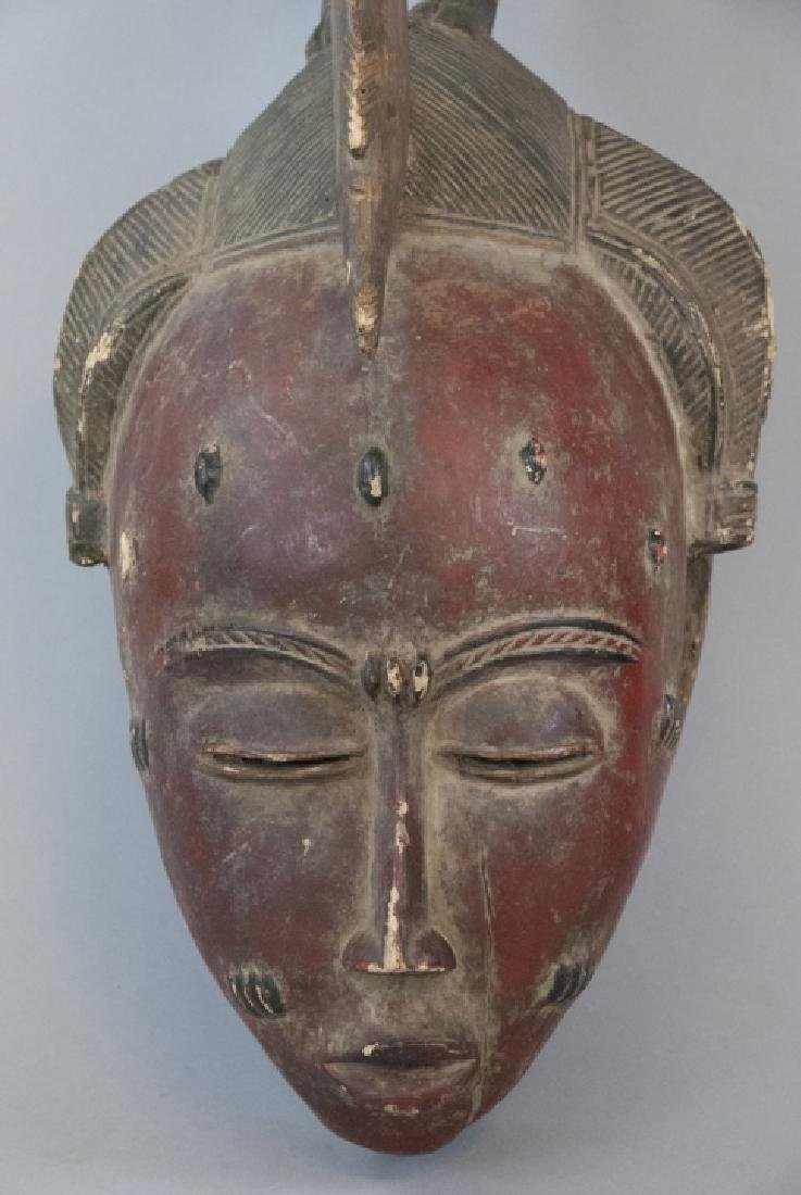 African Hand Carved Hand Painted Tribal Mask - 4