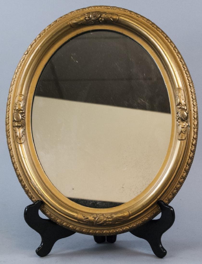 Antique 19th C Victorian Gilt Wood Wall Mirror