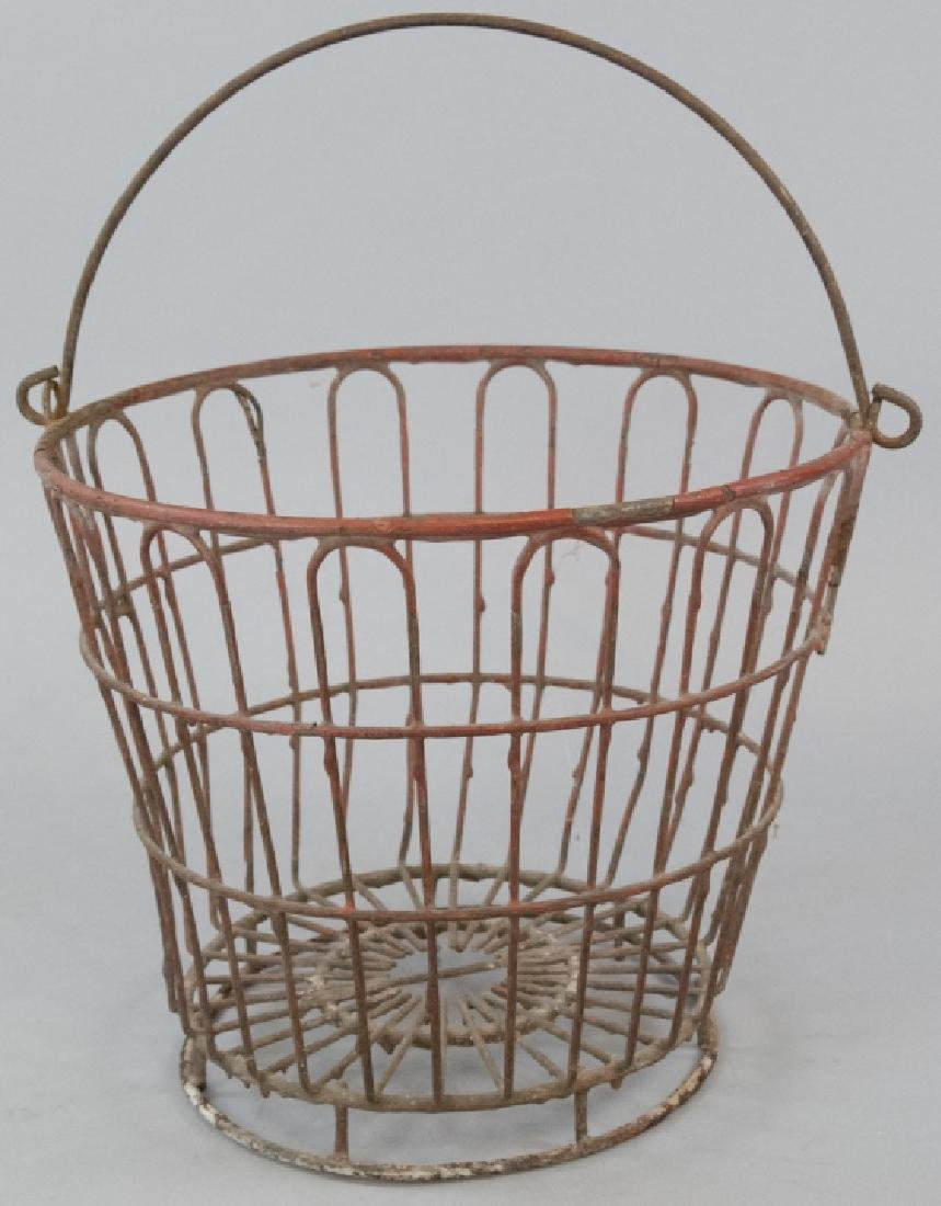 Antique Country American Industrial Wire Basket
