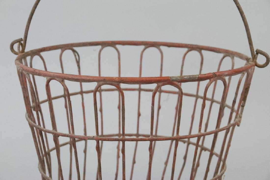 Antique Country American Industrial Wire Basket - 2