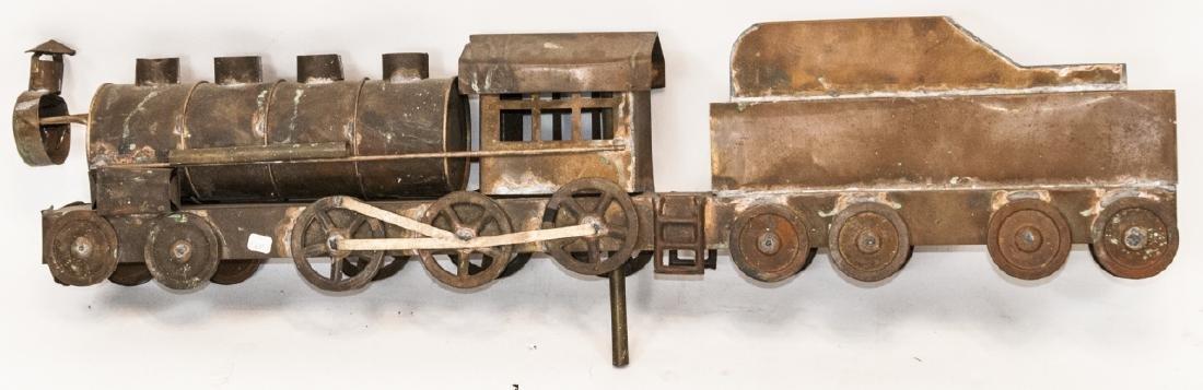 Antique Copper Train Engine Weather Vane