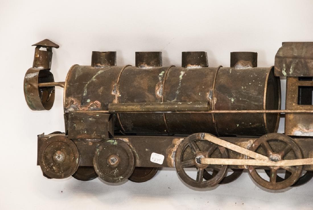 Antique Copper Train Engine Weather Vane - 4