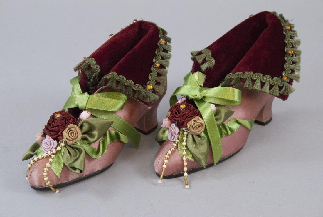 Handmade Decorative Silk Shoes by Katherines