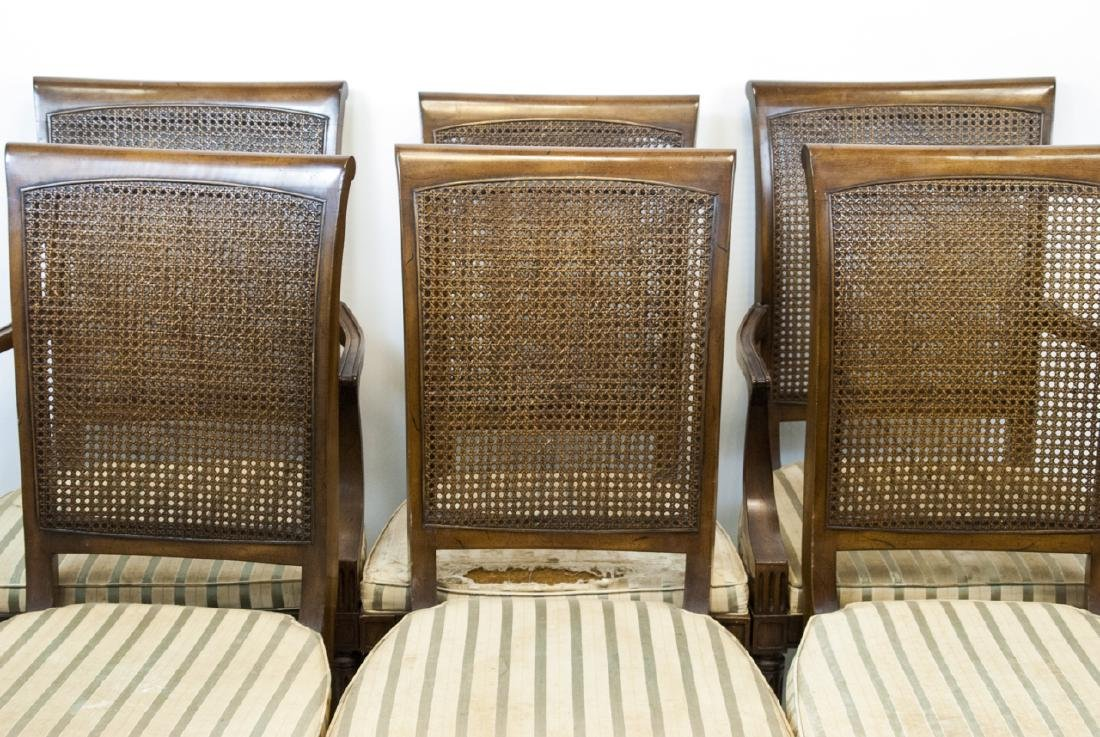 Six Vintage 19th Century Wood & Whicker Chairs - 2