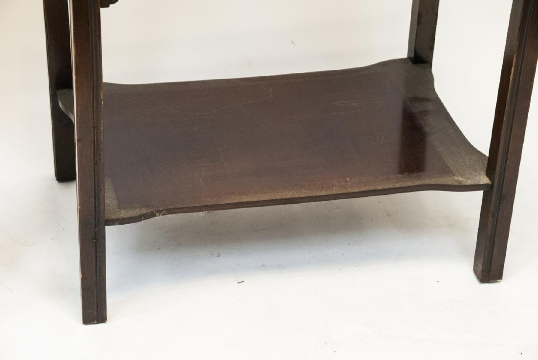 Two Vintage Leather Top End Tables - 6