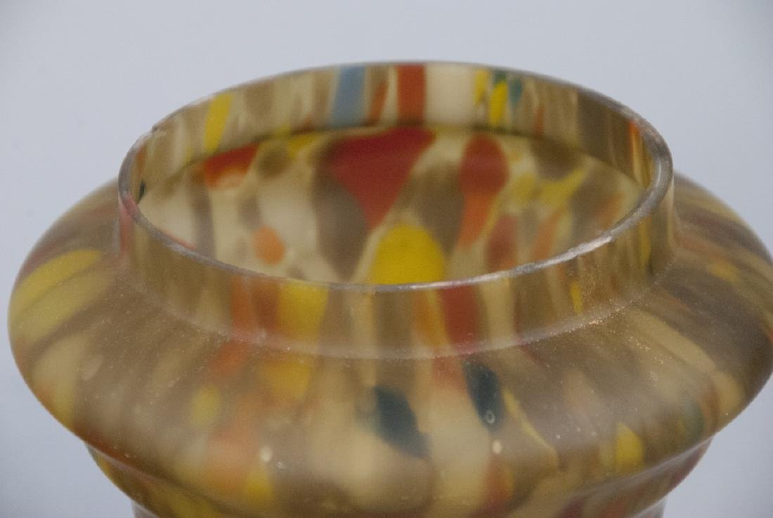 Set Of Two Multicolored Glass Bowl and Dish - 5