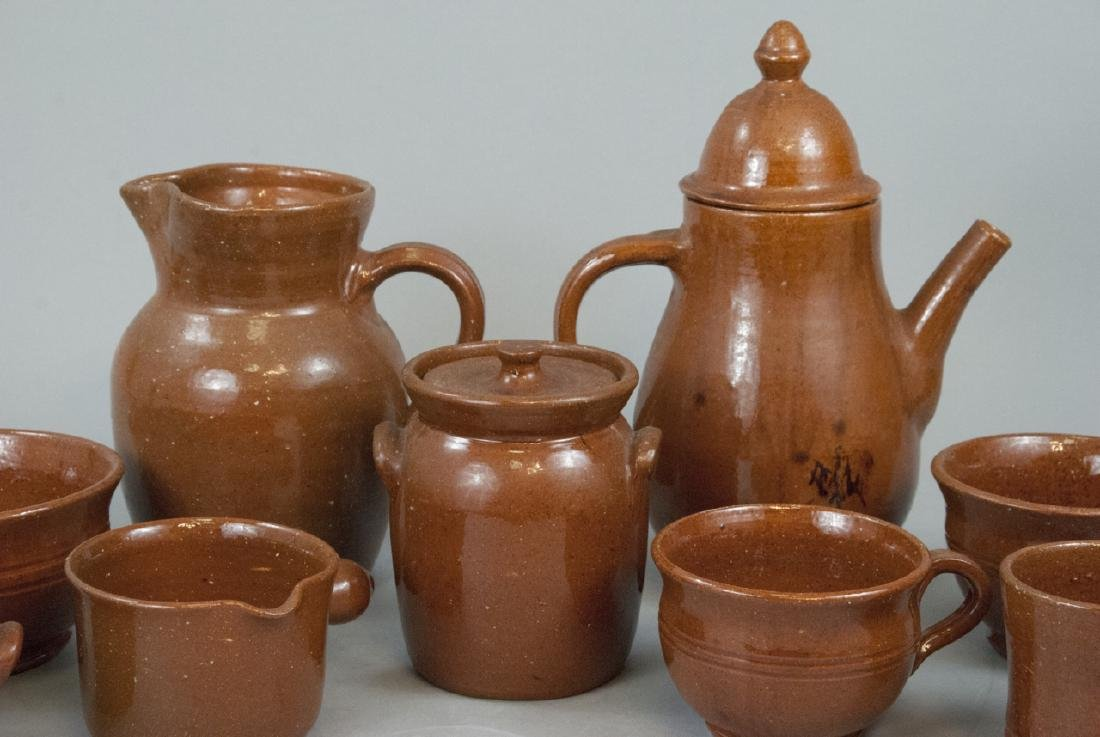 12 Piece Set Of Seagrove Pottery Kitchen Items - 5