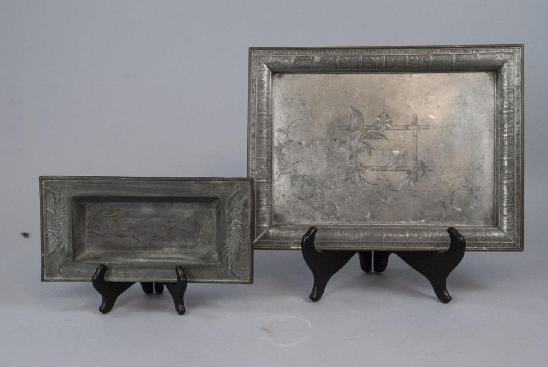 Pair Of Asian Style Metal Trays