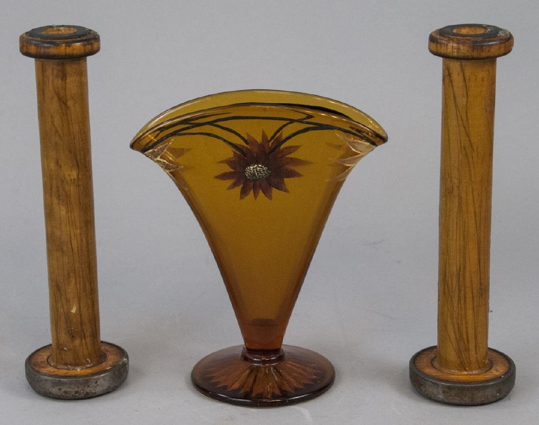 Lot Of 19th Century Vase & Candle Holders