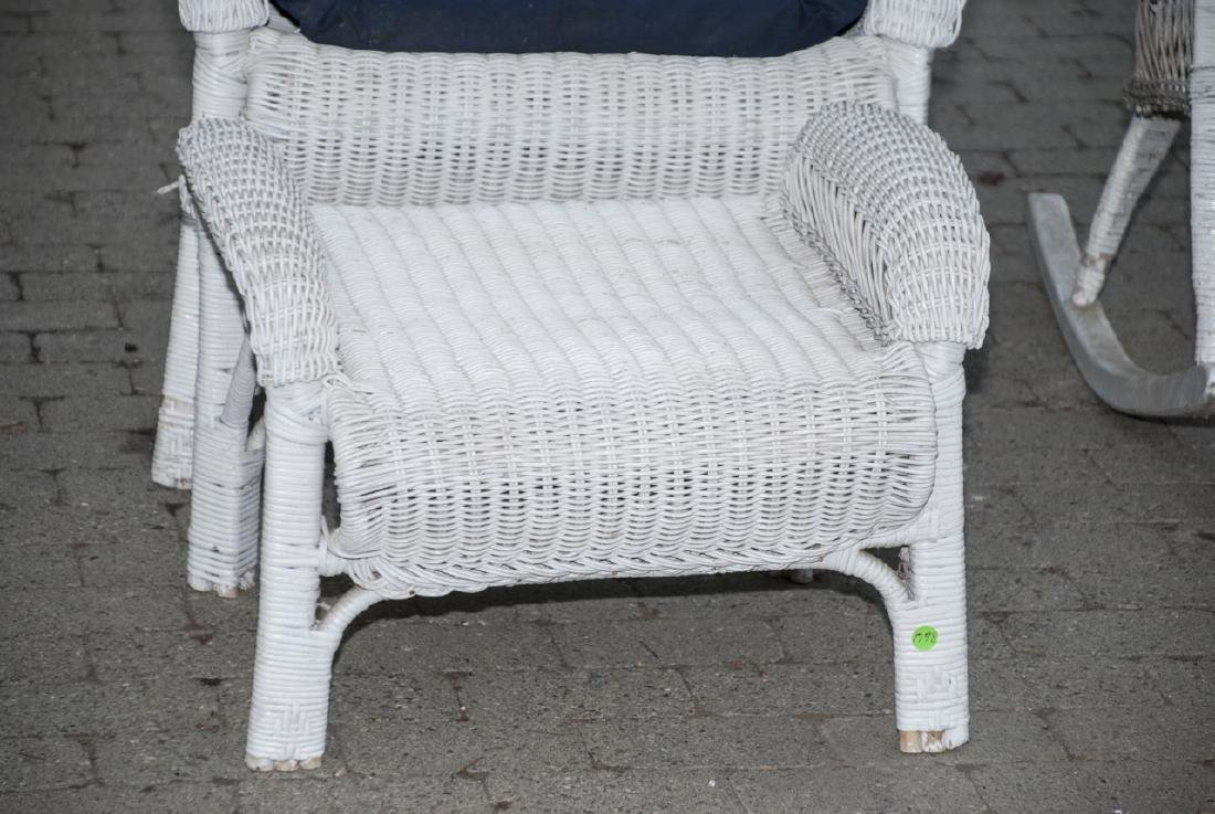 8 Piece White Whicker Outdoor Set - 6