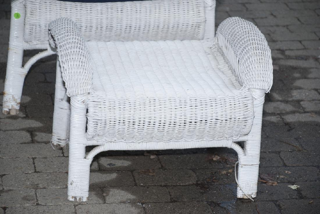 8 Piece White Whicker Outdoor Set - 7