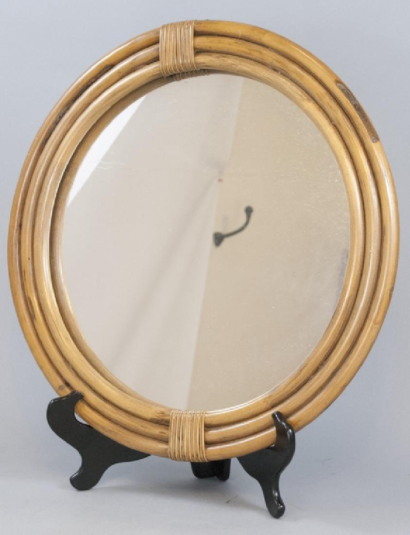 Handcrafted Vintage Bamboo Mirror