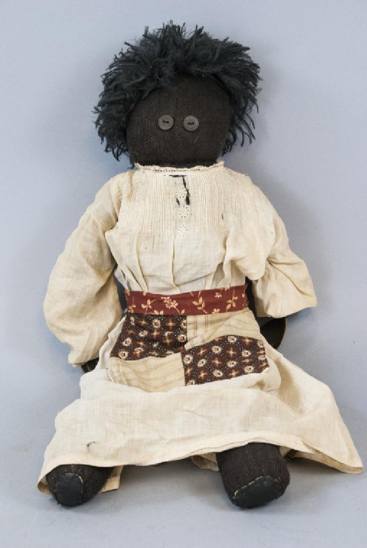 Antique Black Americana Handmade Rag Doll
