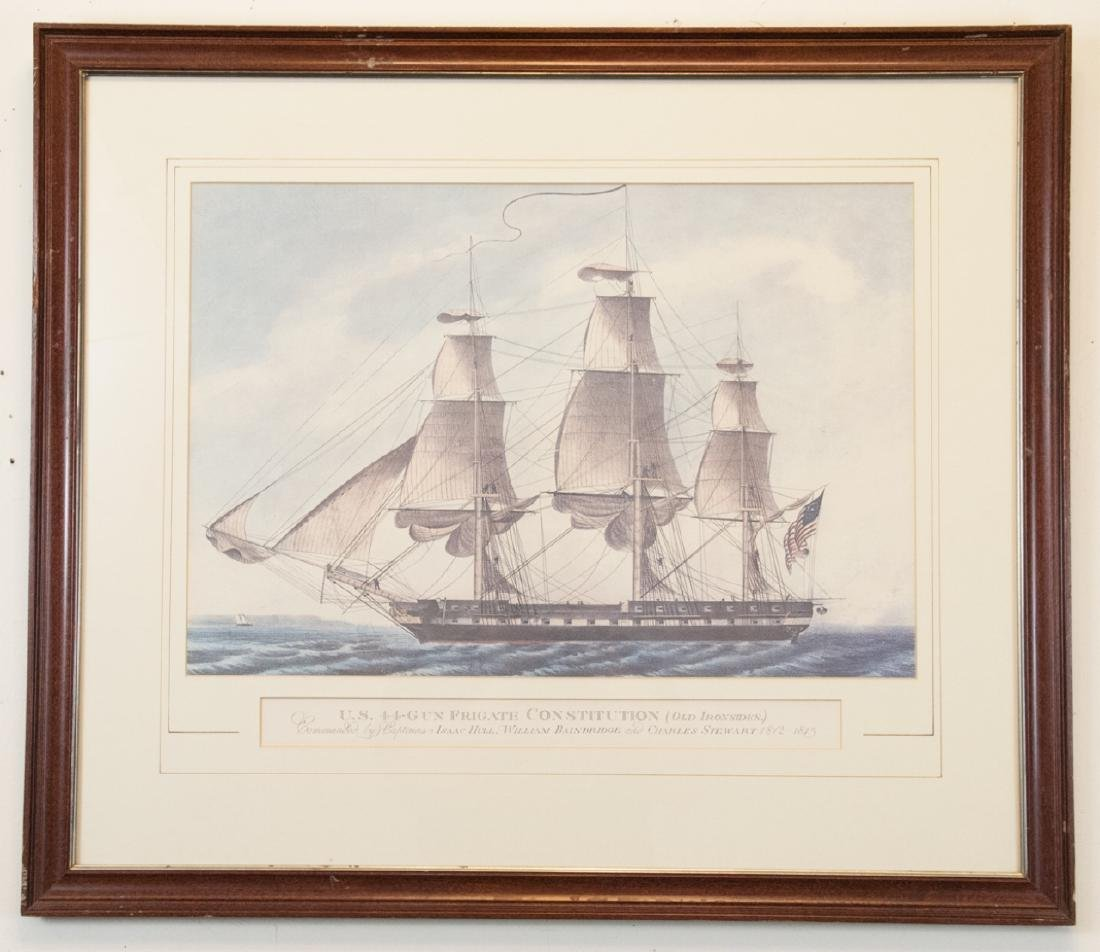 Vintage Old Ironsides Frigate NAUTICAL Print