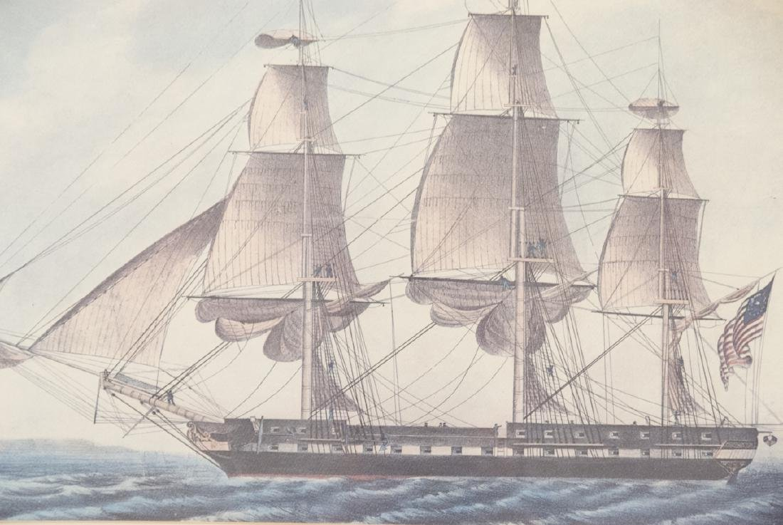 Vintage Old Ironsides Frigate NAUTICAL Print - 2