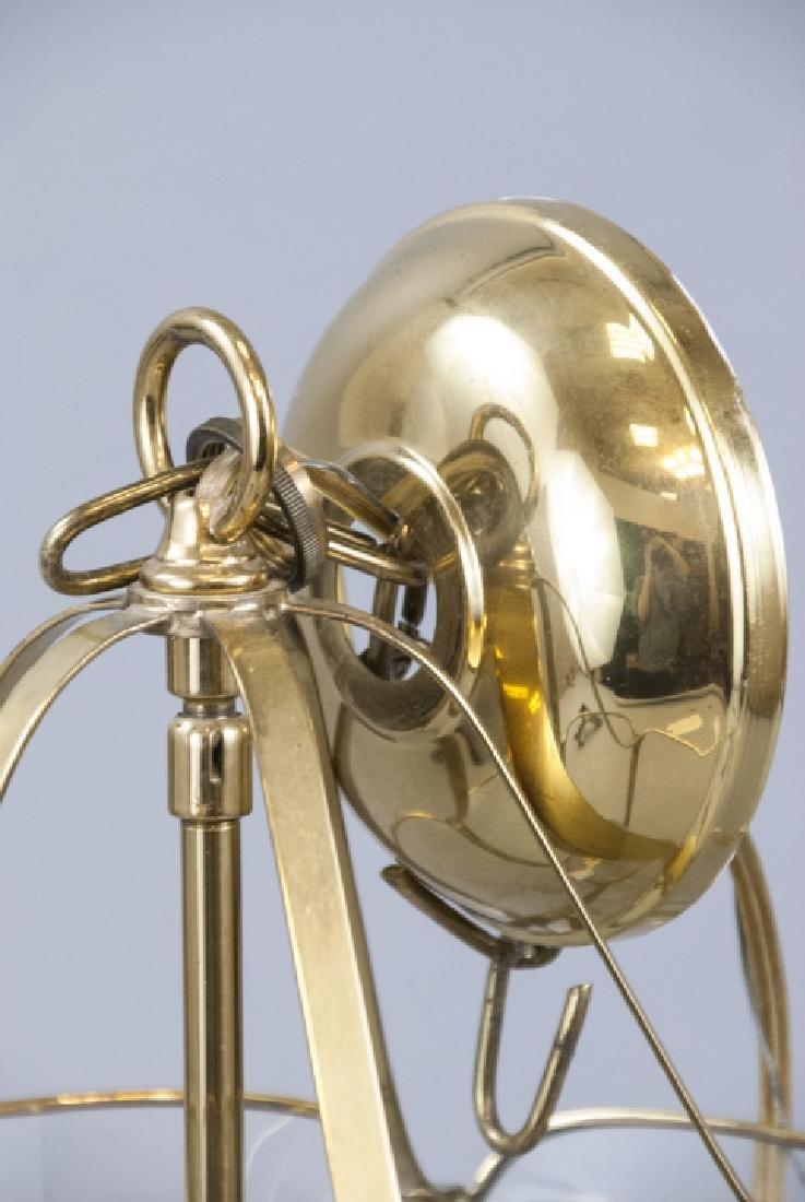 Glass & Gilt Metal Ormolu Chandelier / Lantern - 2