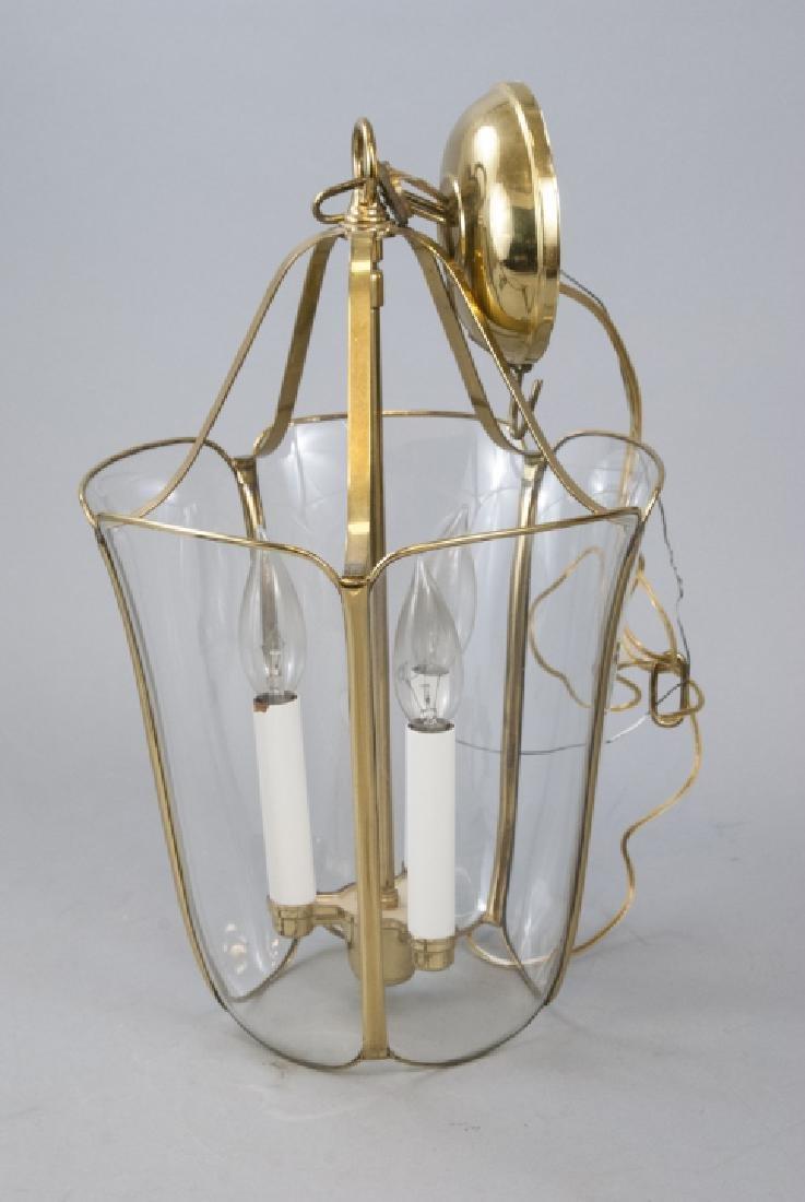 Glass & Gilt Metal Ormolu Chandelier / Lantern - 4