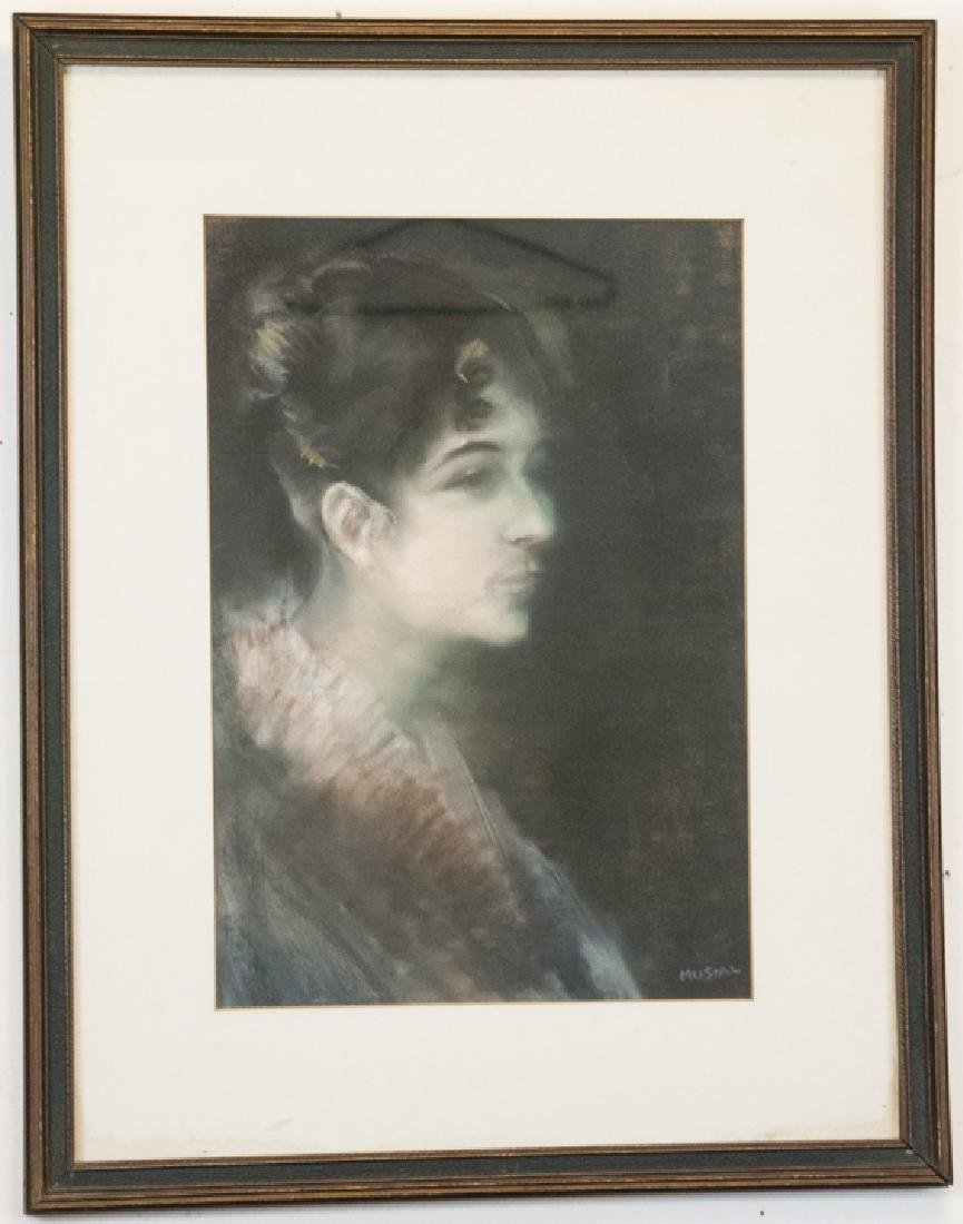 Vintage Signed Portrait Of a Woman