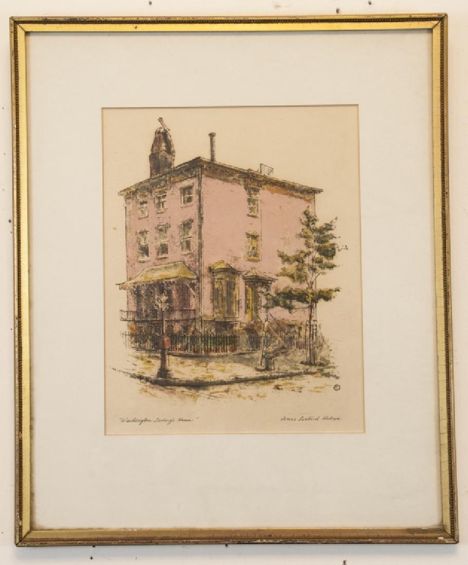 Vintage Watercolor  James Sanford Holme Print