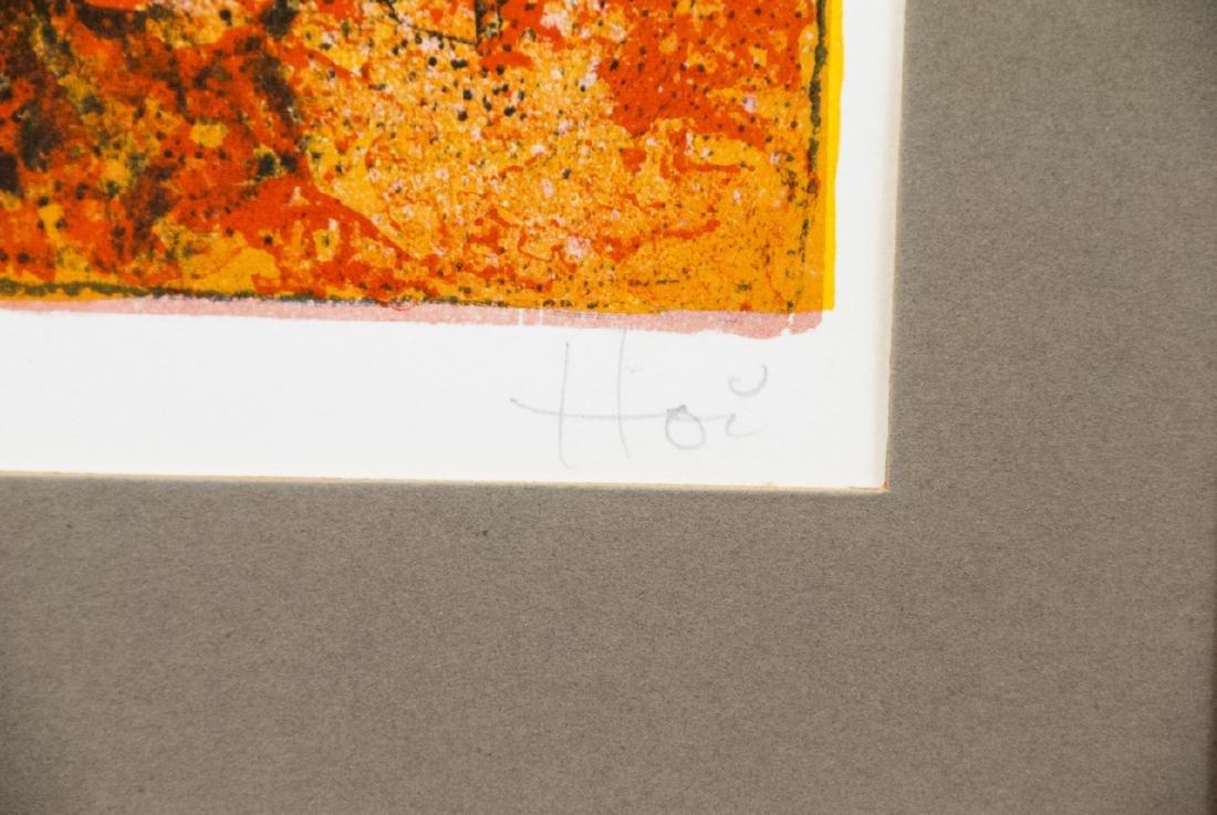 Hoi Pencil Signed Lithograph w COA on Back - 4