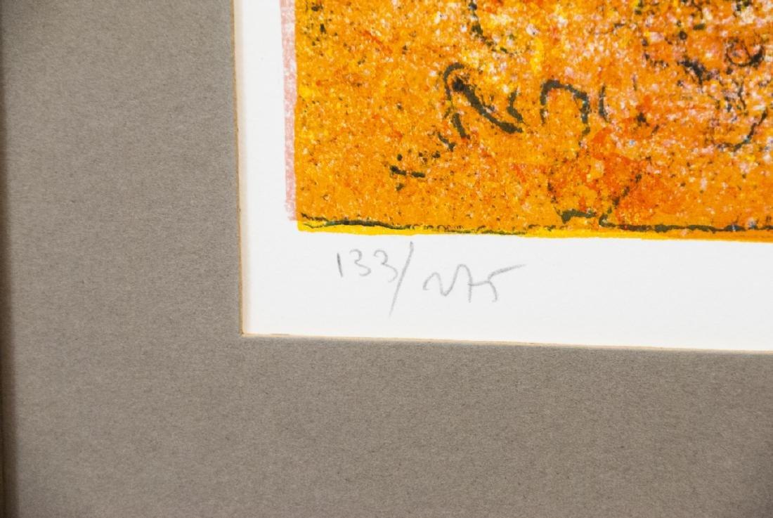 Hoi Pencil Signed Lithograph w COA on Back - 5