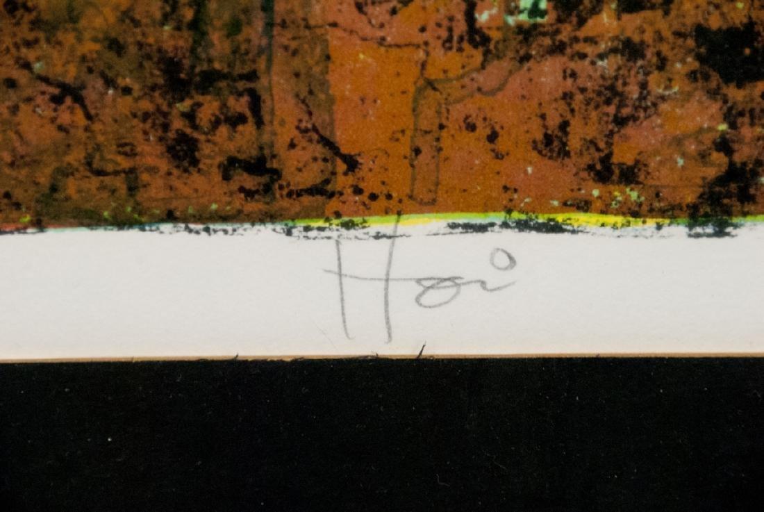 Hoi Pencil Signed Lithograph w COA on Back - 6