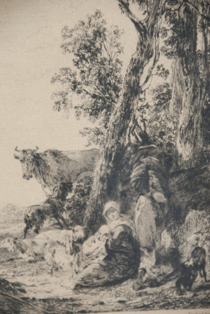 Antique Landscape Engraving By Nicholaes Bercherm - 4
