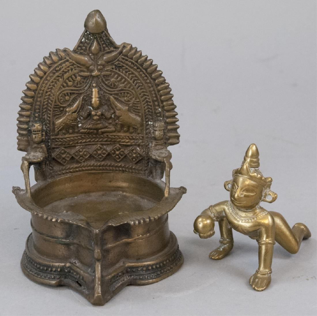Two Brass Antique Hidu Decorative Items
