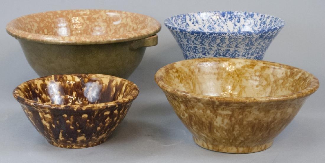 Lot Of Four Vintage Splatter Ware Bowls