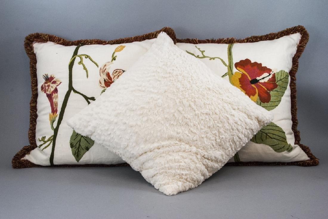 Assorted Group Of White Contemporary Pillows