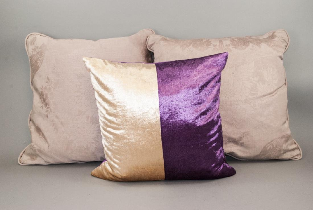Group Of Assorted Purple Contemporary Pillows