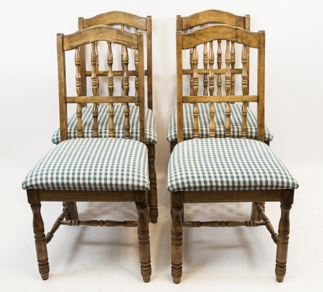 Four French Country Style Turned Wood Chair
