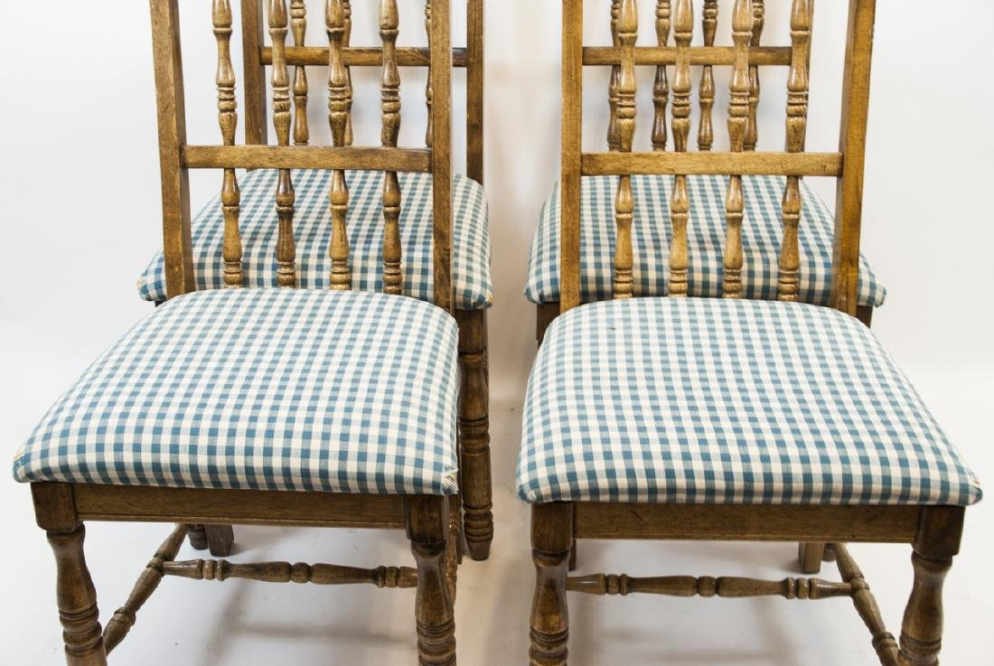Four French Country Style Turned Wood Chair - 2