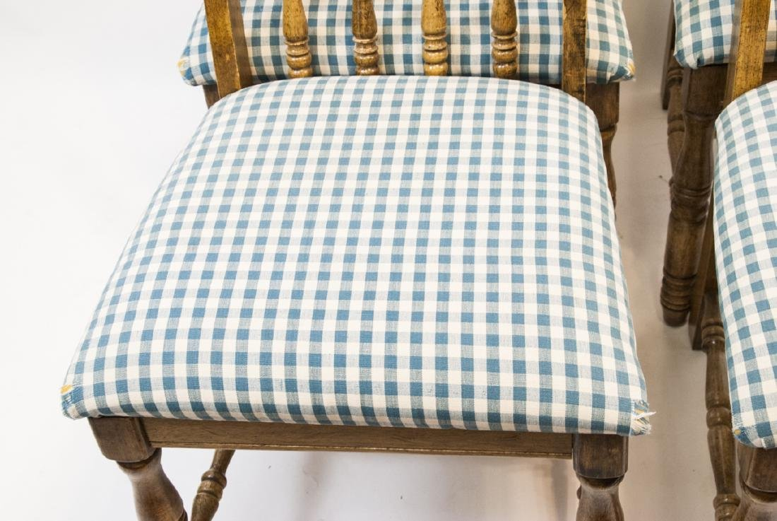 Four French Country Style Turned Wood Chair - 4