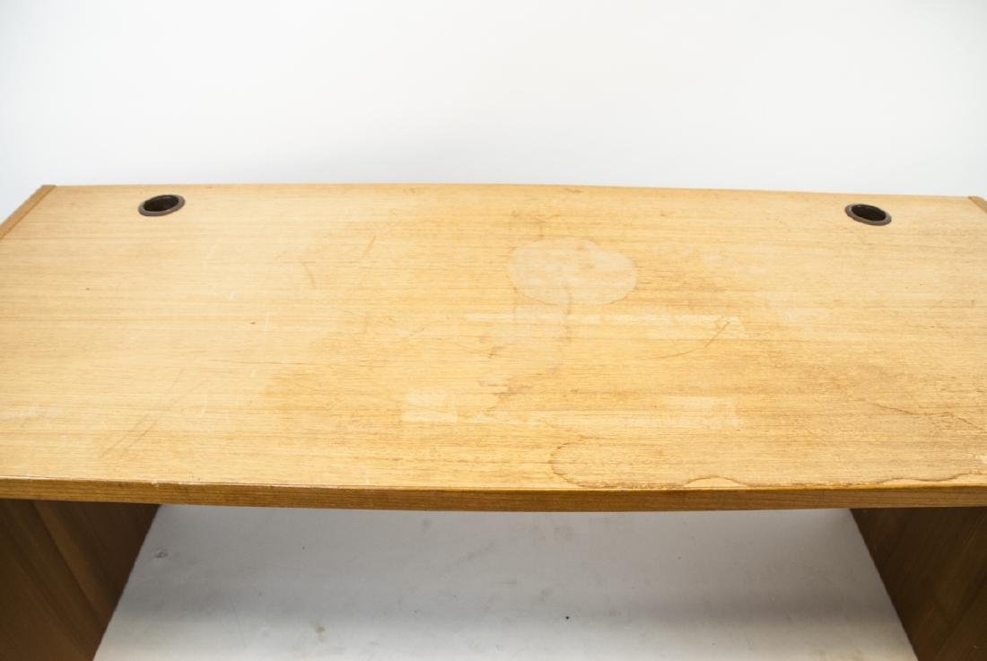 Large Contemporary Pine Office Desk - 3