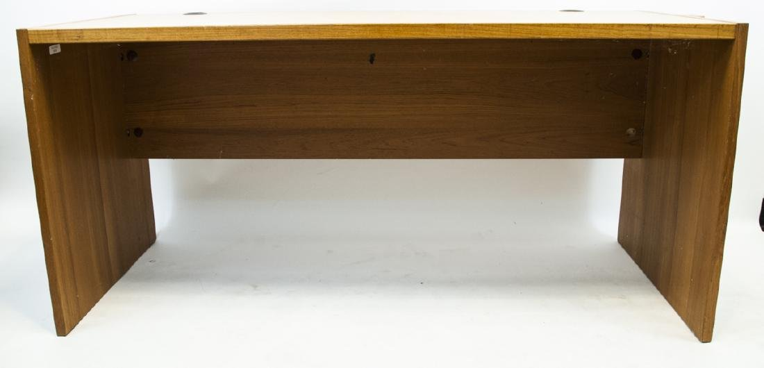 Large Contemporary Pine Office Desk - 4