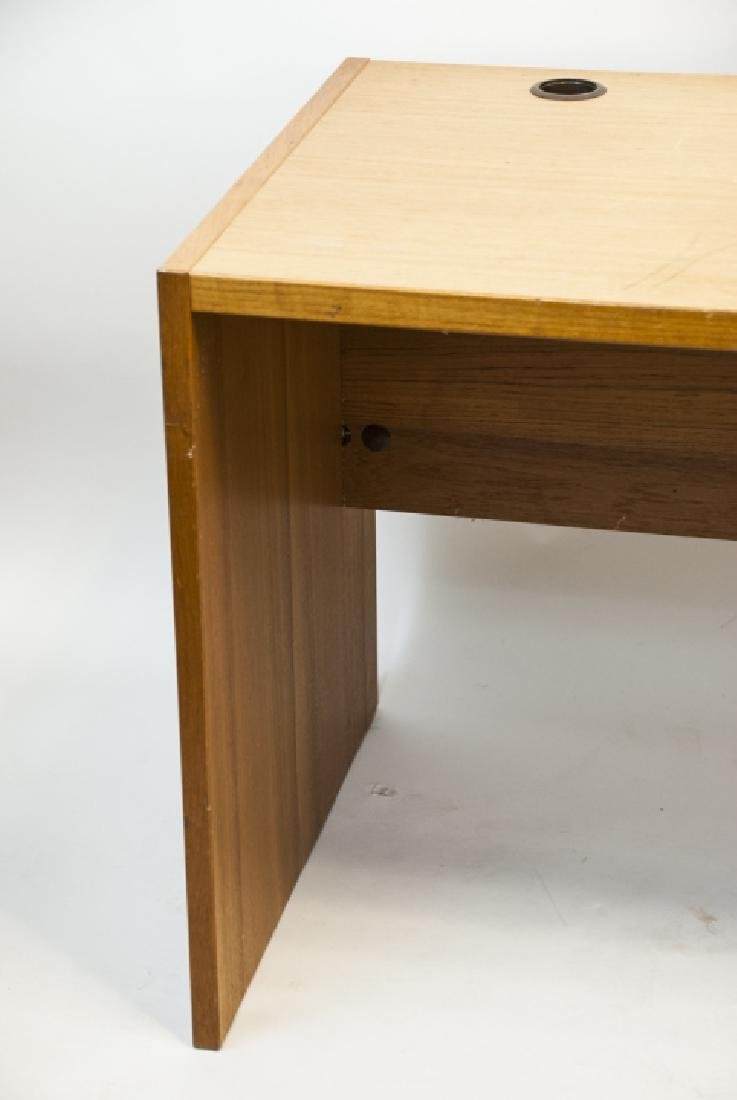 Large Contemporary Pine Office Desk - 5