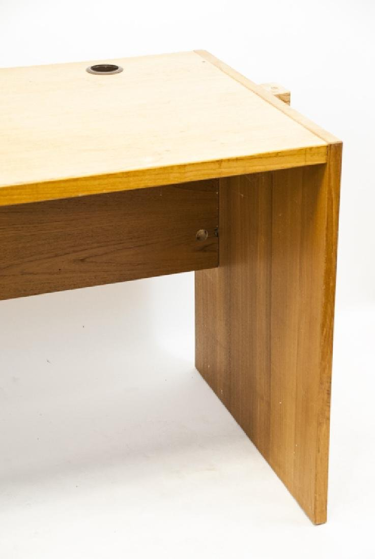 Large Contemporary Pine Office Desk - 6