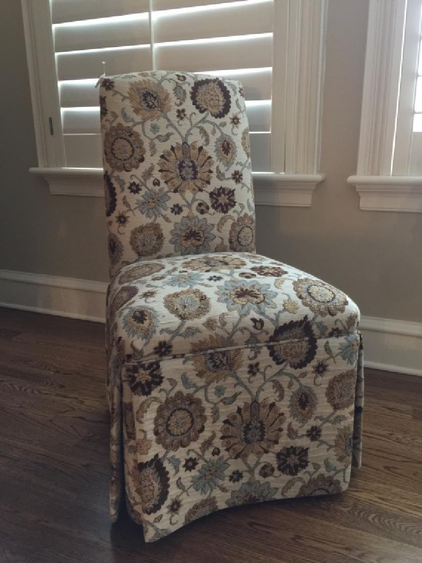 Custom Upholstered Desk or Side Chair on Casters