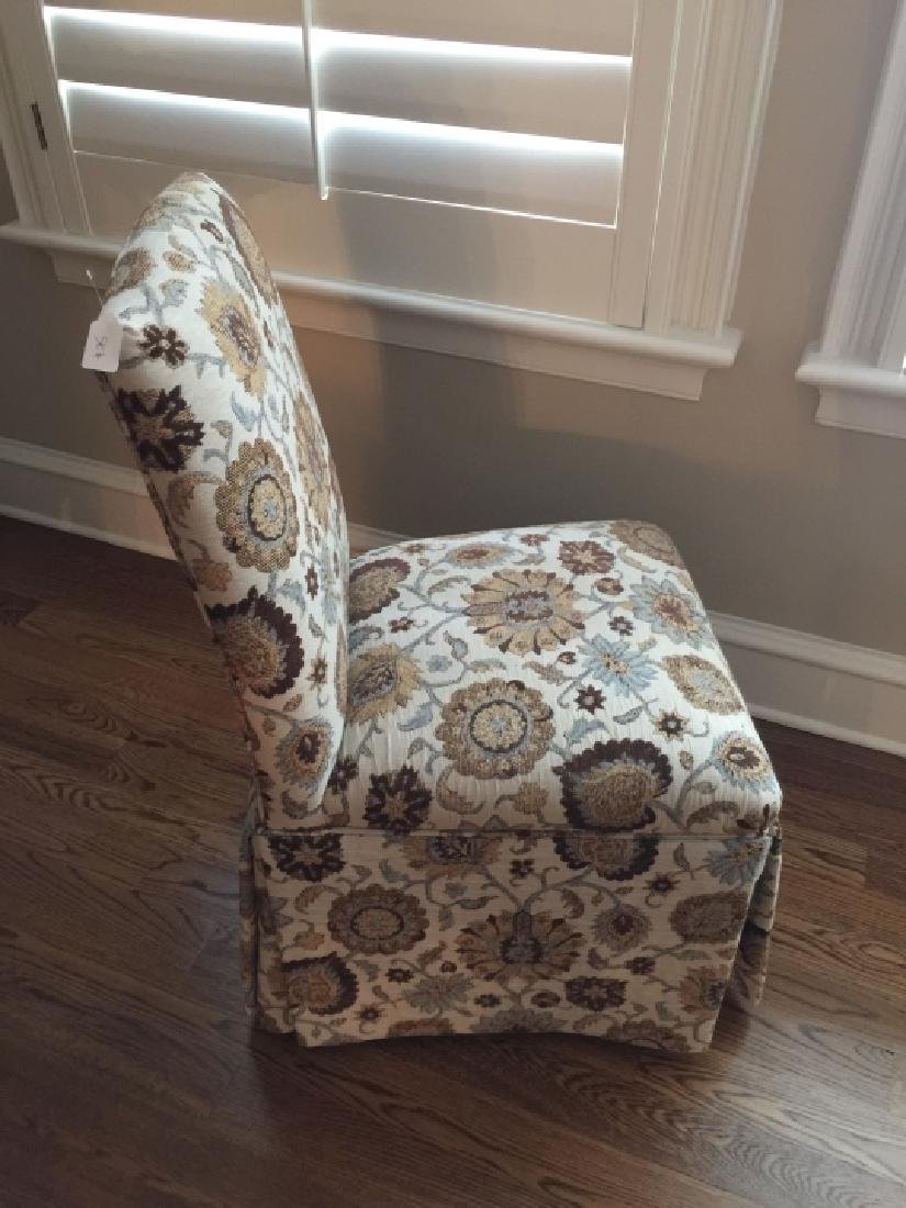 Custom Upholstered Desk or Side Chair on Casters - 2