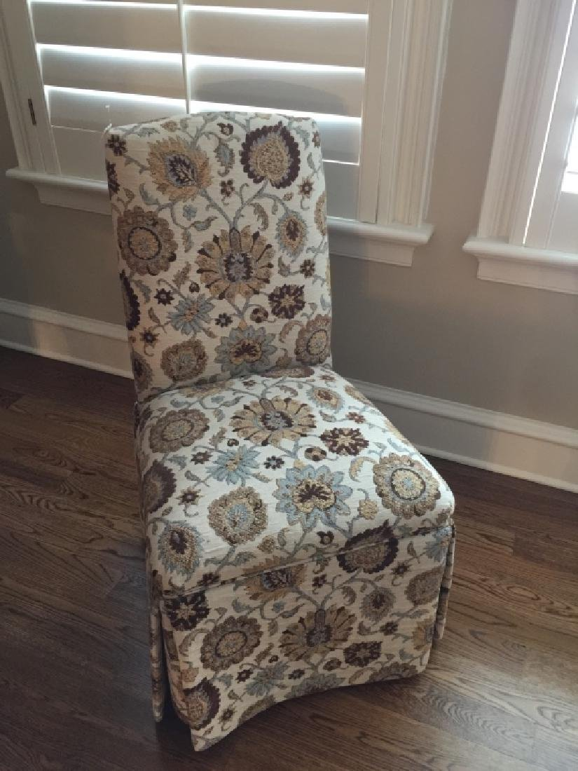 Custom Upholstered Desk or Side Chair on Casters - 3