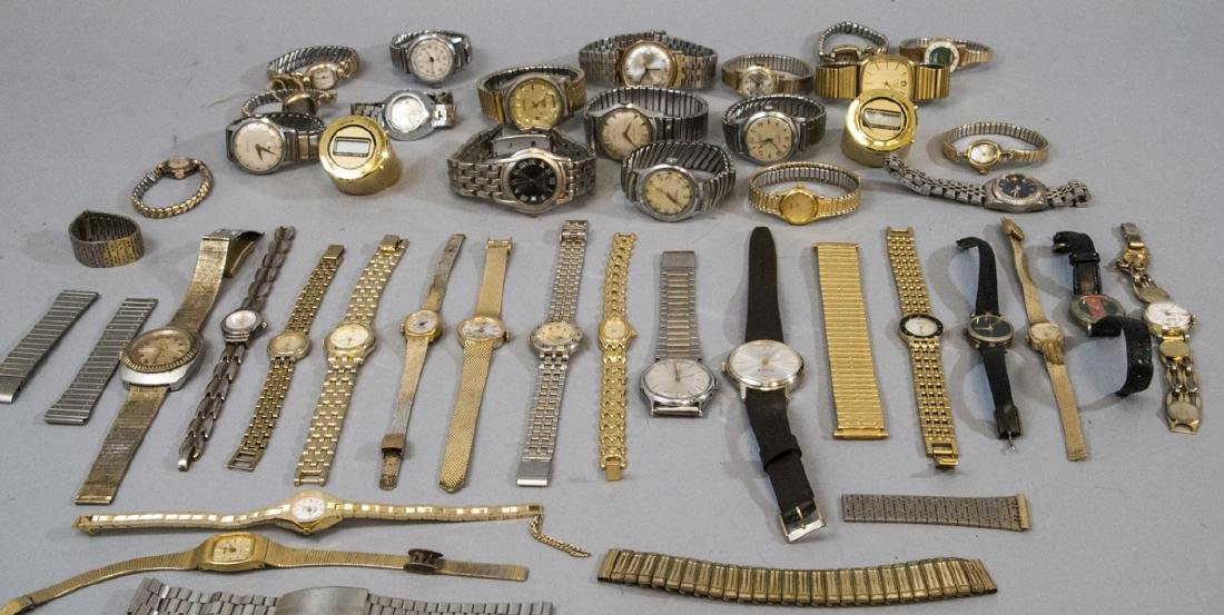 Collection of Vintage Wrist Watches & Parts