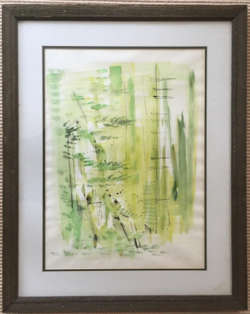 Alfred Birdsey Signed Watercolor Painting in Frame