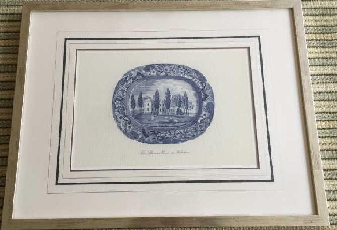 Framed Print of an English Transferware Platter