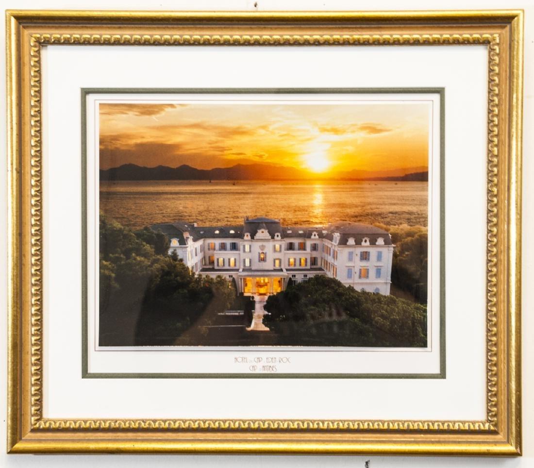 Gold Framed Photograph of Hotel du Cap, Eden Roc