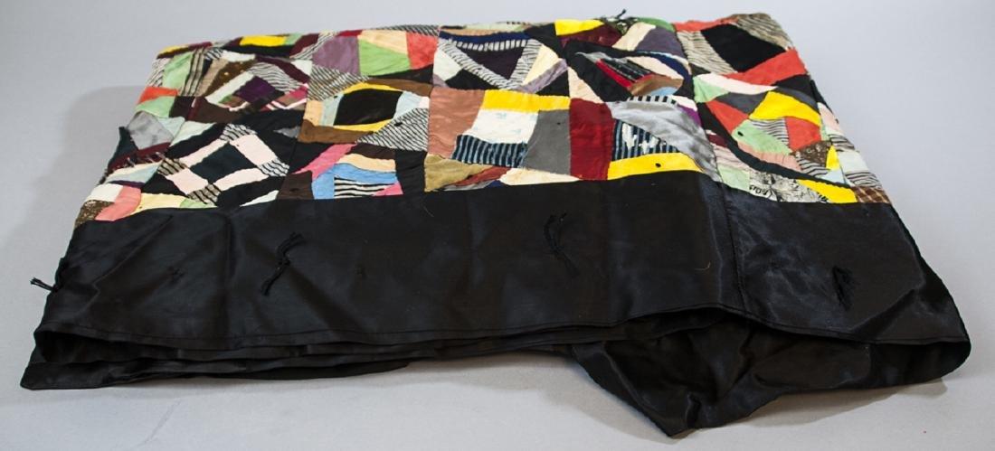 Antique American Hand Sewn Patchwork Crazy Quilt