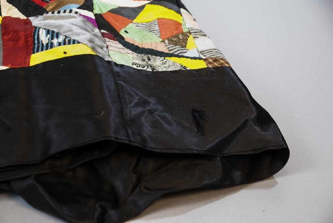 Antique American Hand Sewn Patchwork Crazy Quilt - 2