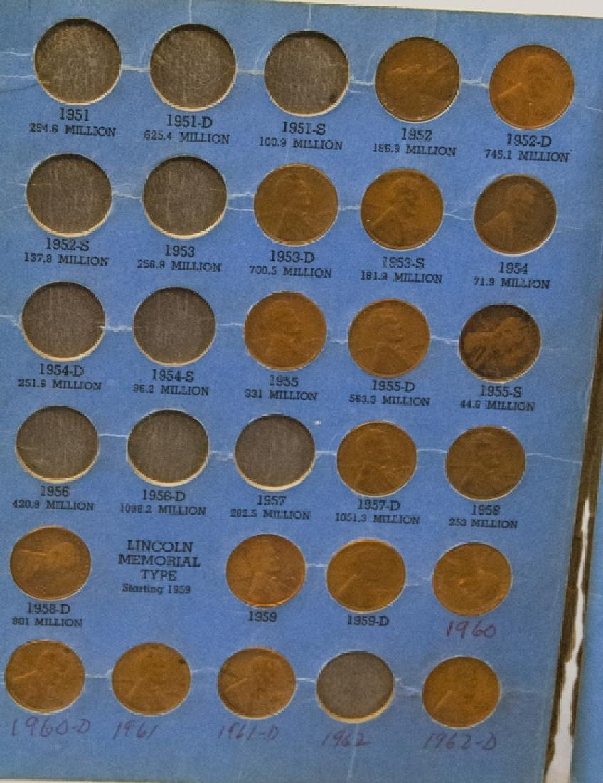 Lincoln Head Pennies 1909-40 & Canadian Small Cent - 11